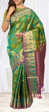 Chutney Green Lightweight Kanchipuram Silk Saree