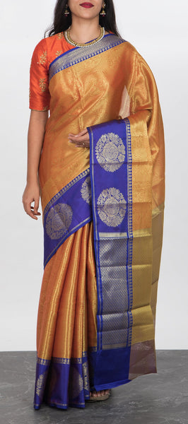 Gold Tanchui Silk Saree