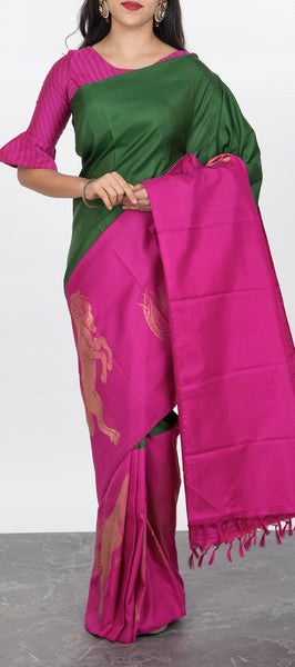 Magna Collection - Plain Silk Sarees