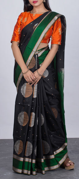 Midnight Blue Soft Silk Saree