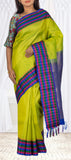 Parrot Green Lightweight Kanchipuram Handloom Pure Silk Saree
