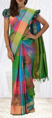 Multicoloured Softsilk Saree
