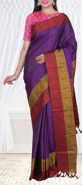 Purple Pure Soft Silk Saree — Diwali Collection