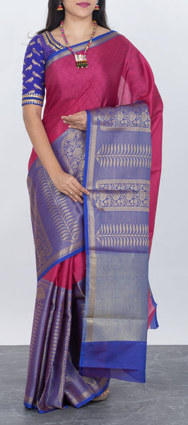 Dark Pink Tanchui Saree