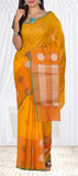 Mango Yellow Organza Casual Saree