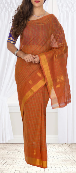 Mustard & Zari Cotton Saree