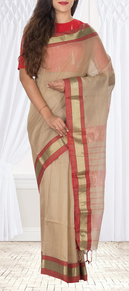 Mauve Silk Cotton Saree