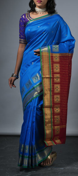 Light Blue Art Silk Saree