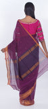 Purple Traditional Maheshwari Cotton Saree