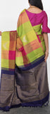 Borderless Kanchipuram Silk Saree with Checks