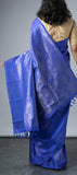 Borderless Royal Blue Softsilk Saree
