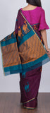 Purple Ethnic Silk Cotton Saree