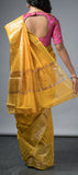 Sunflower Yellow Semi Silk Cotton Saree