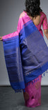 Borderless Lavendar Kanchipuram Silk Saree with Partly Pallu