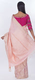 Baby Pink Pure Soft SIlk Saree
