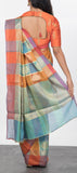 Multicolored Semi Silk Cotton Saree