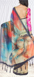 Multicoloured Semi Silk Cotton Saree With Digital Prints