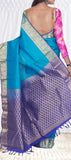 Blue Lightweight Kanchipuram Pure Silk Saree