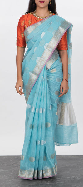 Semi Linen Saree