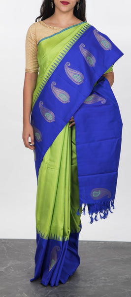 Green Pure Handloom Kanchipuram Silk Saree