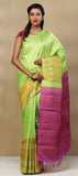Green & Pink Pure Handloom Kanchipuram Silk Saree