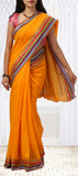 Yellow Semi Silk-Cotton Saree