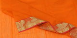 Orange Semi Silk-Cotton Saree