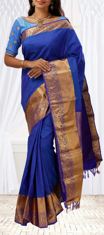 Blue Silk Mix Saree