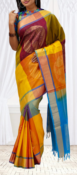 Multi-Coloured Soft Silk Saree