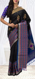 Black & Blue Soft Silk Saree