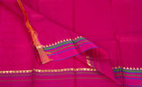 Bright Green & Pink Lightweight Kanchipuram Silk Saree