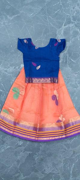 Ink Blue Kids Cotton Paavadai