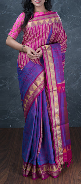 Purple Softsilk Saree