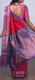 Dark Pink Silk Cotton Saree