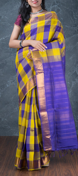 Multicoloured Silk Cotton Saree