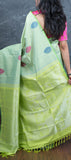 Mint Green Borderless Silk Saree