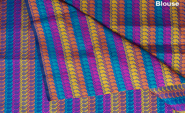 Multicoloured Thread Jacquard Blouse Material