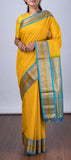 Yellow Lightweight Kanchipuram Silk Saree