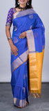 Cobalt Blue Soft Silk Saree