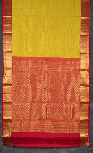 Yellow Bridal Kanchipuram Silk Saree