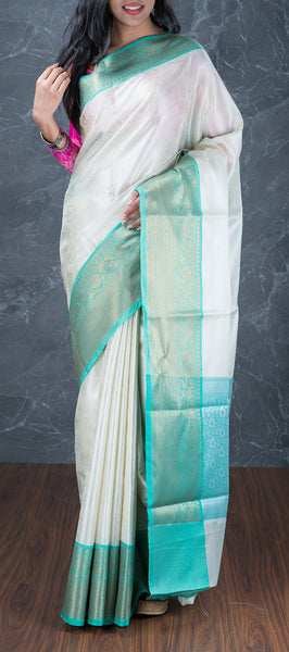 White Tanchui Saree
