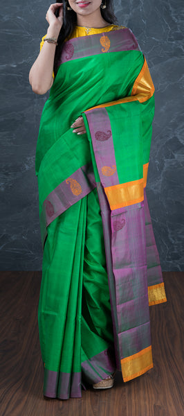 Green Lightweight Kanchipuram Silk Saree