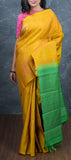 Mustard Borderless Kanchipuram Silk Saree