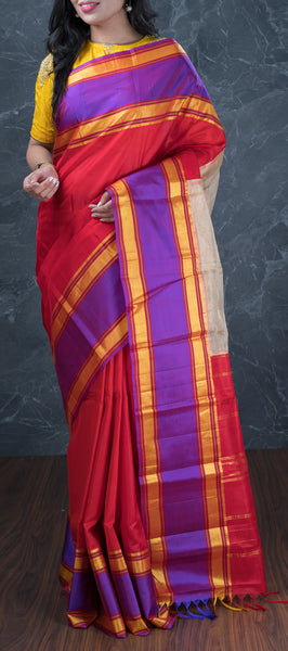 Pink Softsilk Saree