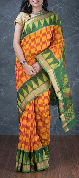 Pochampalli Silk Cotton Saree