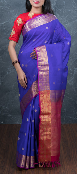 Royal Blue Lightweight Kanchipuram Silk Saree