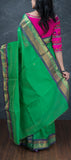 Green Traditional Silk Cotton Saree