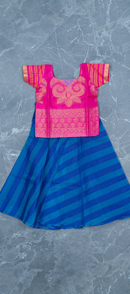 Pink Silk Cotton Paavadai