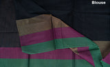 Black Semi Silk Cotton Saree