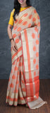 Off-white Semi Organza Saree
